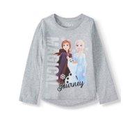 Disney Frozen 2 Elsa and Anna Graphic Hi-Lo Long Sleeve T-Shirt (Little Girls & Big Girls)
