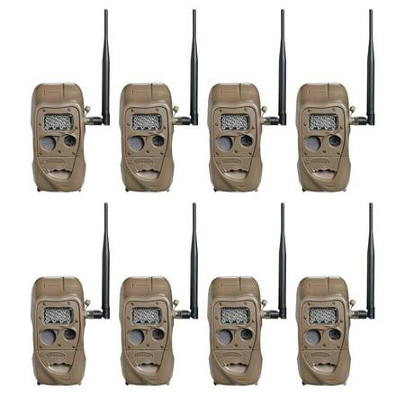 Cuddeback CuddeLink 20MP Long Range Wireless Hunting Game Trail Camera (8 Pack)