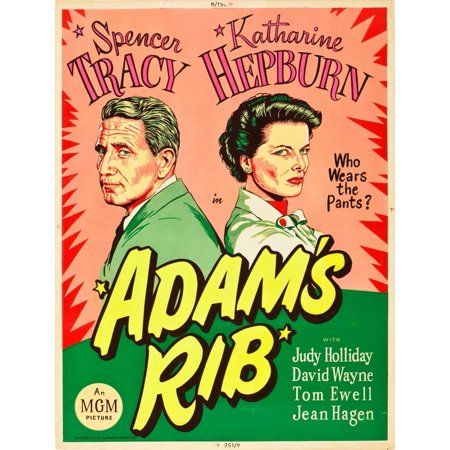 AdamS Rib L-R Spencer Tracy Katharine Hepburn On Us Poster Art 1949 Movie Poster Masterprint