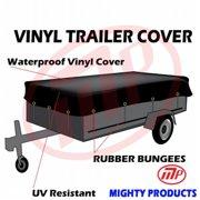 Mighty Products MT-VTT18-B0820 18 oz. Heavy Duty, Waterproof Vinyl Trailer Tarp, 8 x 20 ft.