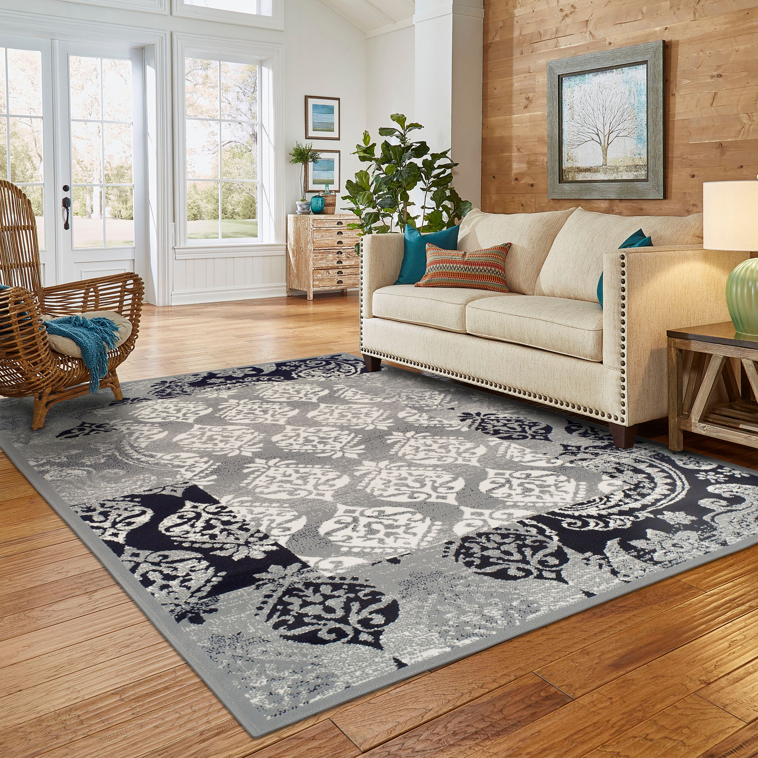 Superior Modern Mystique Collection with 8mm Pile and Jute Backing, Moisture Resistant and Anti-Static Indoor Area Rug
