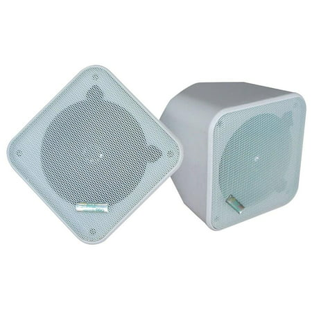 - PYLE PDWP5WT - 5'' Weatherproof Indoor/ Outdoor Full Range Two-Way Multi-Mount Speaker Enclosures (white)