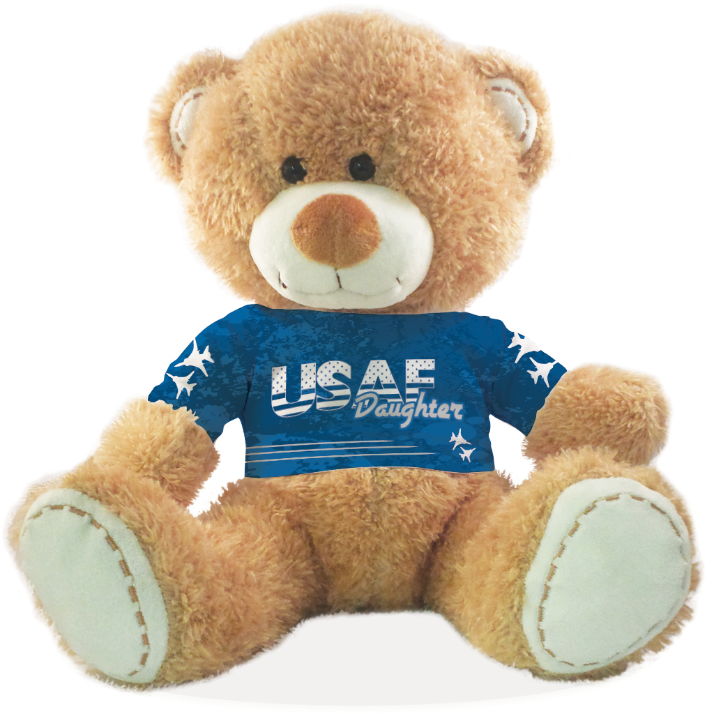 "United States Air Force Brother Teddy Bear ""My Sister"" Design by"