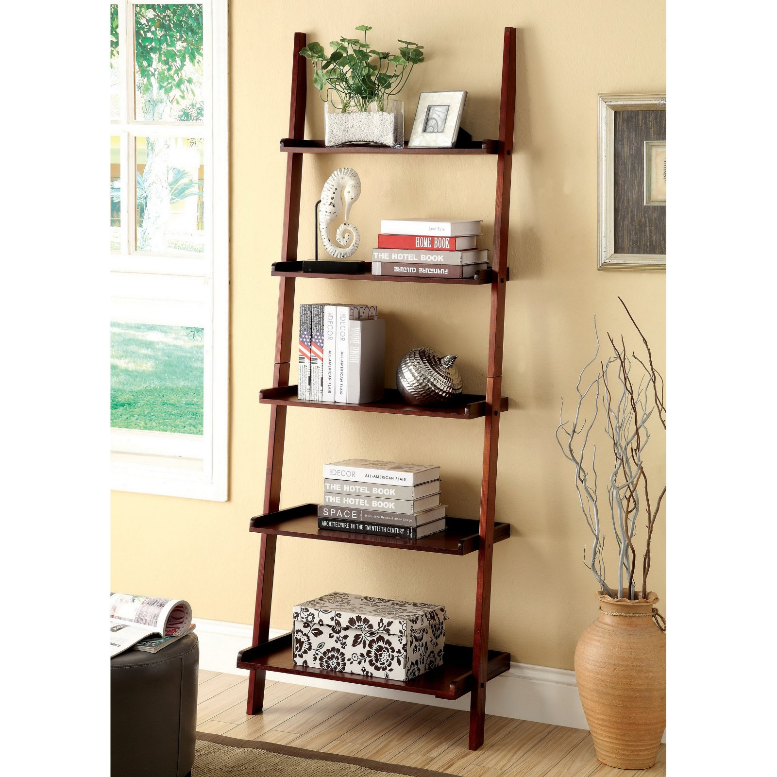 Furniture of America Delaris 5-Tier Ladder Shelf - Walmart.com