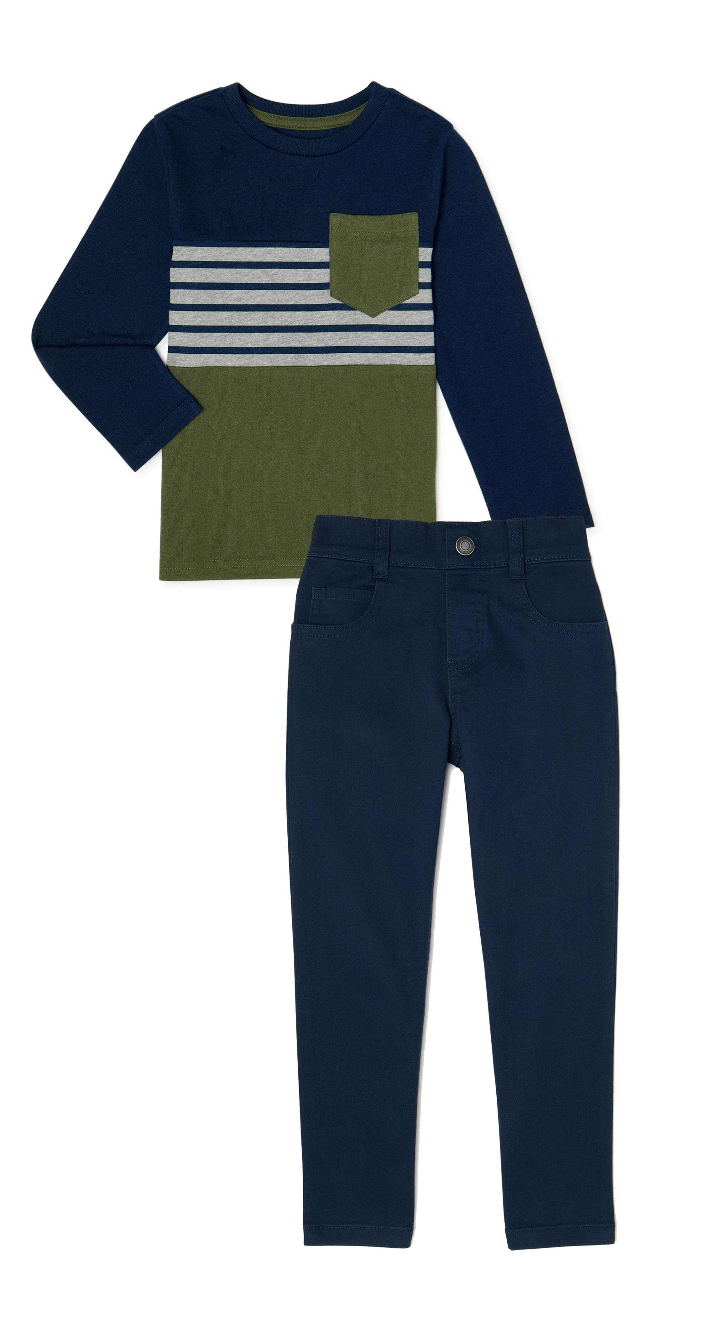 and Jogger Pant Pants Set English Laundry Baby-Boys Long Sleeve T-Shirt Henley T-Shirt