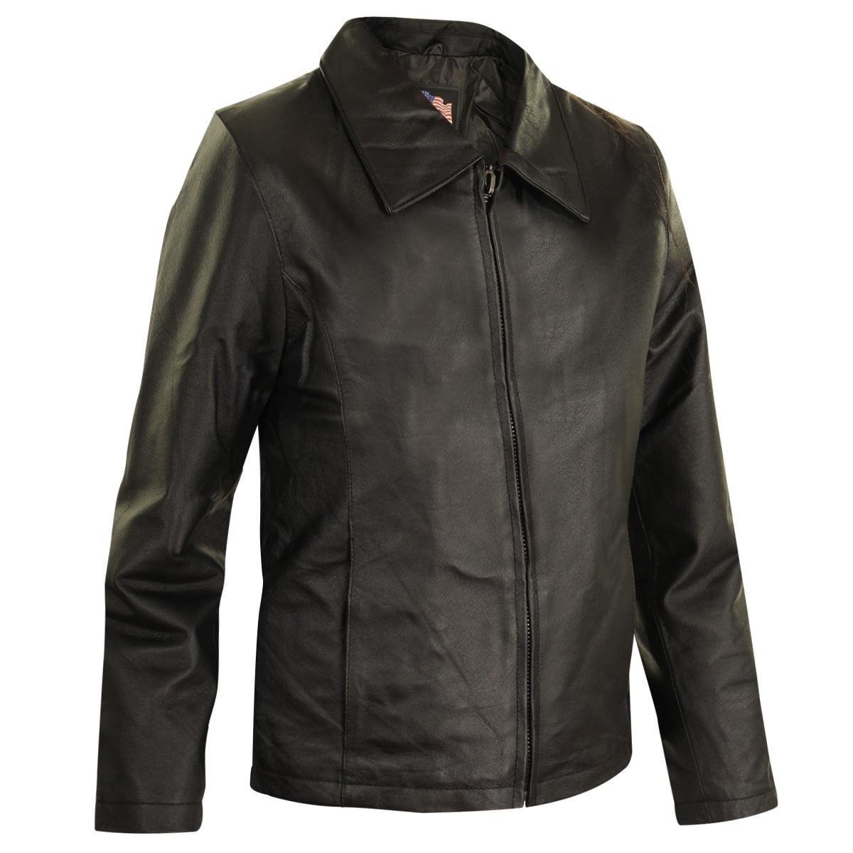 USA Leather Womens Black Leather Jacket