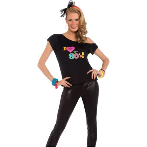 Womens I Love The 80's Shirt Adult Costume - Size ML