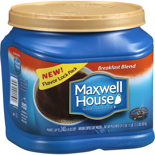 Maxwell House Breakfast Blend Mild Coffee, 29.3 oz