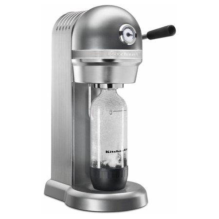 KitchenAid RKSS3121CU Sparkling Beverage Maker powered by SodaStream - Contour Silver, Contour Silver (Certified