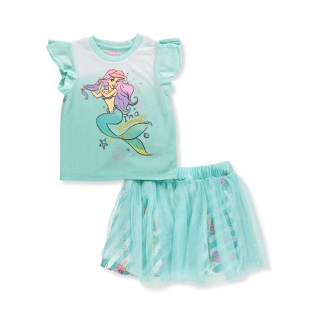 Girls Disney Princess 2 Piece (Disney Princess Girls' 2-Piece Skirt Set Outfit)