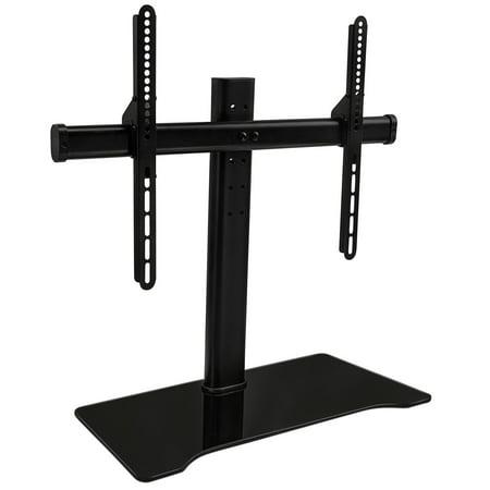 Mount It Universal Tabletop Tv Stand Mount Glass Shelf Tv Bracket Fits 32 55 Tvs Height