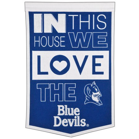 Duke Blue Devils 15'' x 24'' Home Banner - Blue/ White - No Size