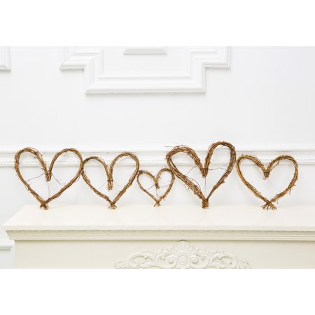Rustic Bridal Shower Decor, Vine Garland Heart, Set Of 3 Pieces