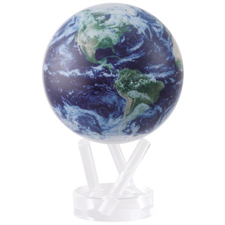 MOVA Earth View with Cloud Cover Revolving Globe (Aluminum Glove Box Cover)