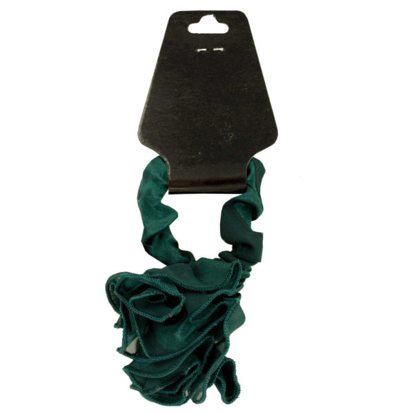 Chiffon Hair Twister with Ruffle Rose Accent in Red - Set of 36