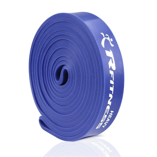 Furinno RF1506-BL 41 in. Rfitness Professional Long Loop Stretch Latex Exercise Band, Blue - Heavy
