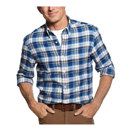 John Ashford Big Tall Flannel Plaid Casual Shirt Bright