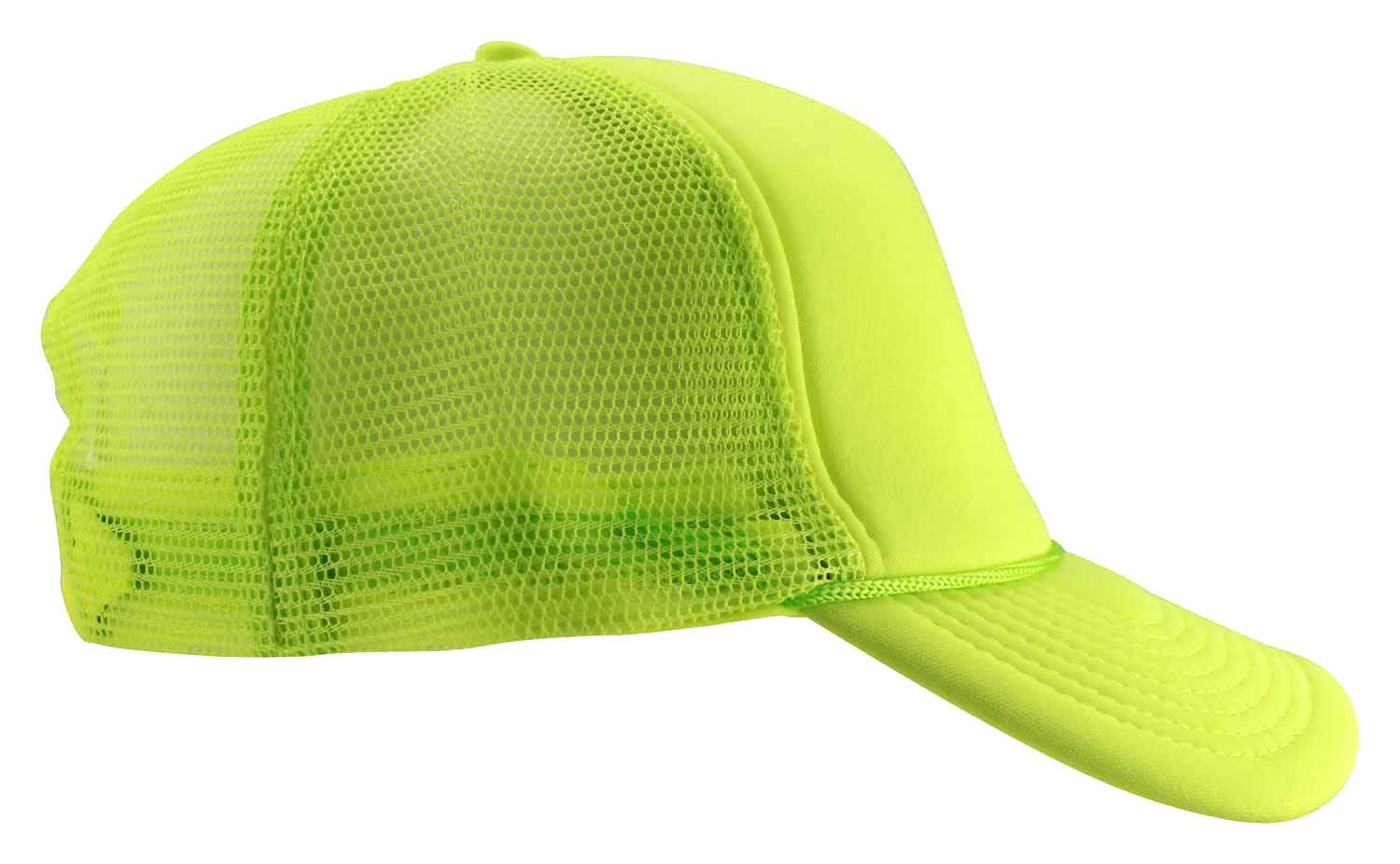 a2361a74f23 Trucker Style Foam Hats Bright Neon Colored Black Light Pool Party Rave  Summer Neon Yellow One Size - Walmart.com