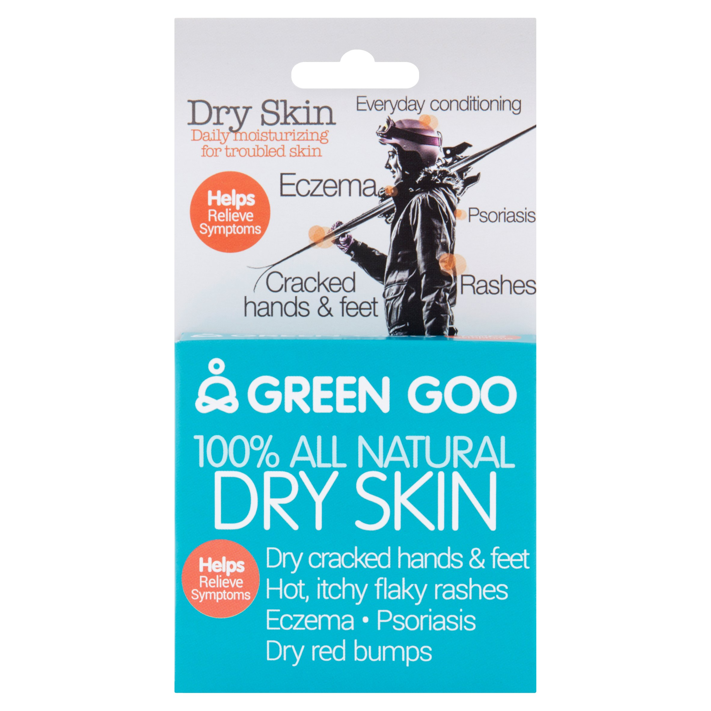 Green Goo 100% All Natural Dry Skin Daily Moisturizing for Troubled Skin, 1.82 oz