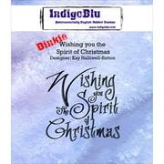 "IndigoBlu Cling Mounted Stamp 3""X3""-Wishing You The Spirit Of Christmas"