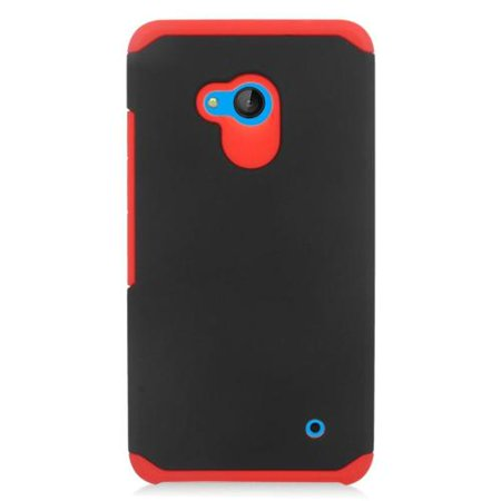 Insten Hard Dual Layer Rubber Coated Silicone Case For Microsoft Lumia 640 - Red/Black