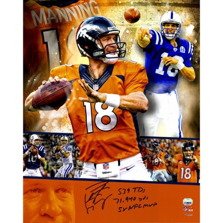 Peyton Manning Hand Signed - Peyton Manning Denver Broncos/Indianapolis Colts Autographed 16