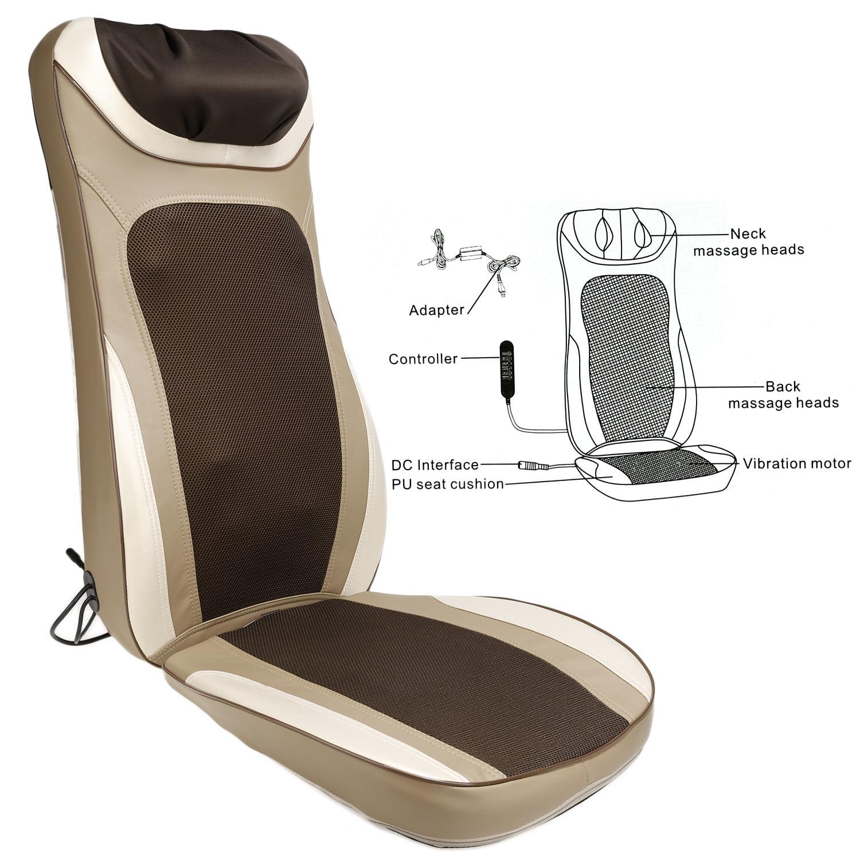 Back Massager Shiatsu Massage Seat Cushion for Full Back ...