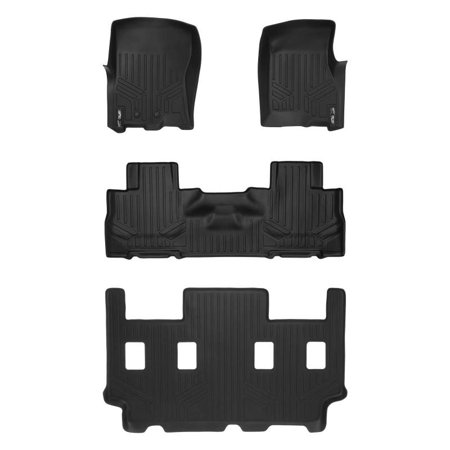 Maxliner 2011-2017 Ford Expedition EL Lincoln Navigator L With 2nd Row Bucket Seats Without Console Floor Mats 3 Row Set Black