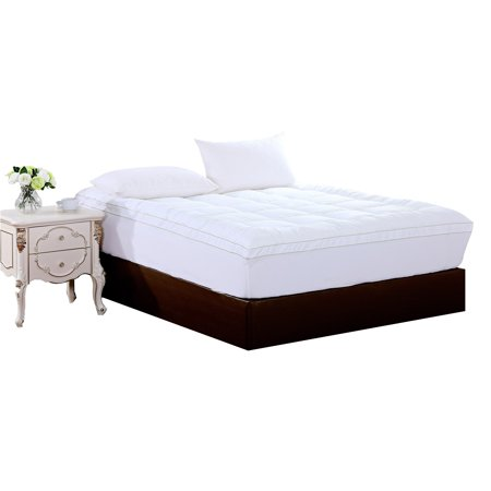 AC Pacific  Luxurious Plush Quilted Bedroom Polyester Mattress Pad - White