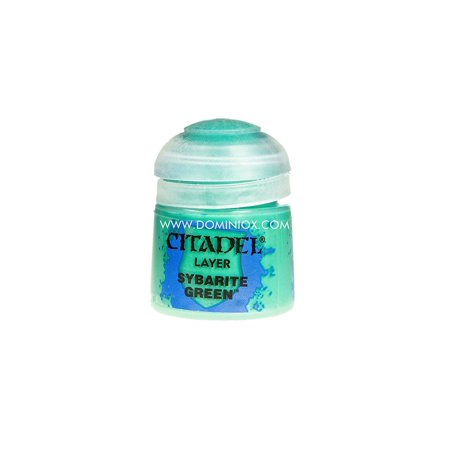 Citadel Layer 1: Sybarite Green, Sybarite Green Layer Acrylic Paint 12ml Bottle Citadel Games Workshop By Games Workshop