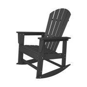 """41"""" Earth-Friendly Recycled Patio Outdoor Rocking Chair - Slate Gray"""