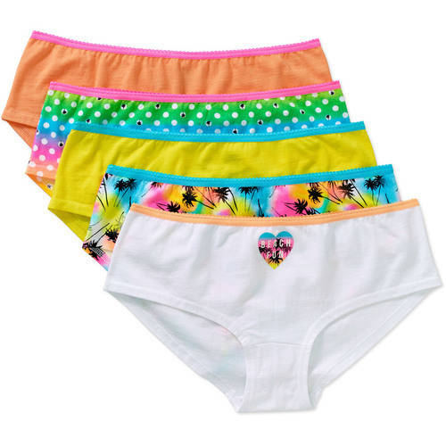 f4b28bf25203 No Boundaries Junior Cotton Stretch Hipster Panty, 5 pack on PopScreen