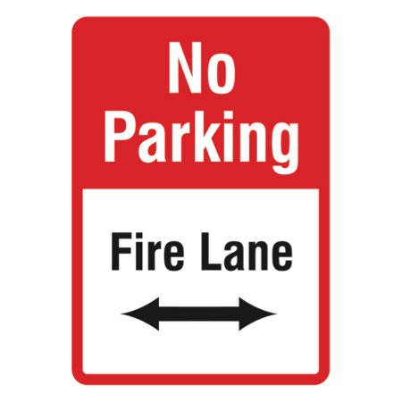 Fire Lane - No Parking Sign - Lot Towing Zone - Custom Parking Lot Signs