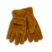 Kinco International 254763 Golden Full Suede Cowhide Glove for Child