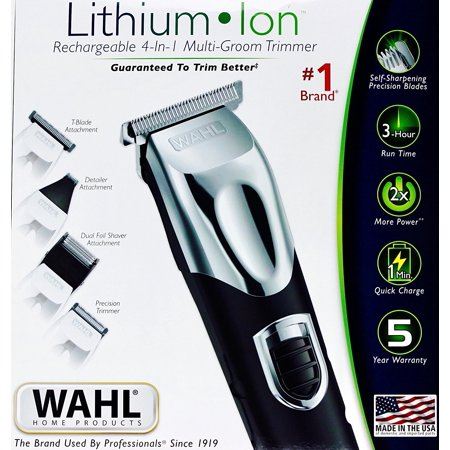 Wahl Lithium Ion Rechargeable 4 In 1 Multi Groom Trimmer Kit