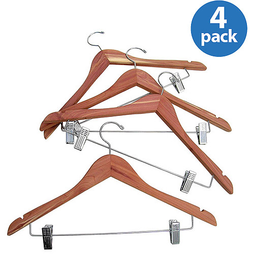 Household Essentials Cedar Garment Hanger, 4-Pack