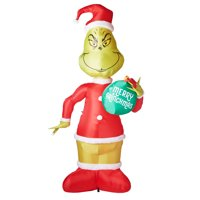 Gemmy Industries Airblown Inflatable Grinch with Ornament, 11'