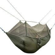 Double Person Travel Outdoor Camping Tent Hanging Hammock Bed With Mosquito Net (Army Green)