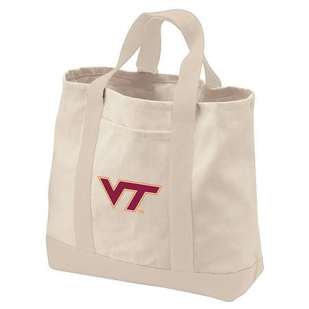 Virginia Tech Hokies Tote Bag or CANVAS Virginia Tech Hokies Shopping Bag TRAVEL BEACH SHOPPING