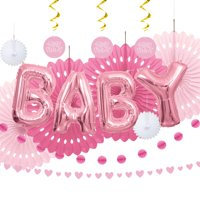 Baby Shower Decorating Kit, Pink, 14pc