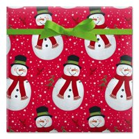 Trendy Kraft Jumbo Rolled Christmas Gift Wrap- 1 Giant Roll, 23 Inches Wide by 35 feet Long, Heavyweight, Tear-Resistant, Holiday Wrapping Paper