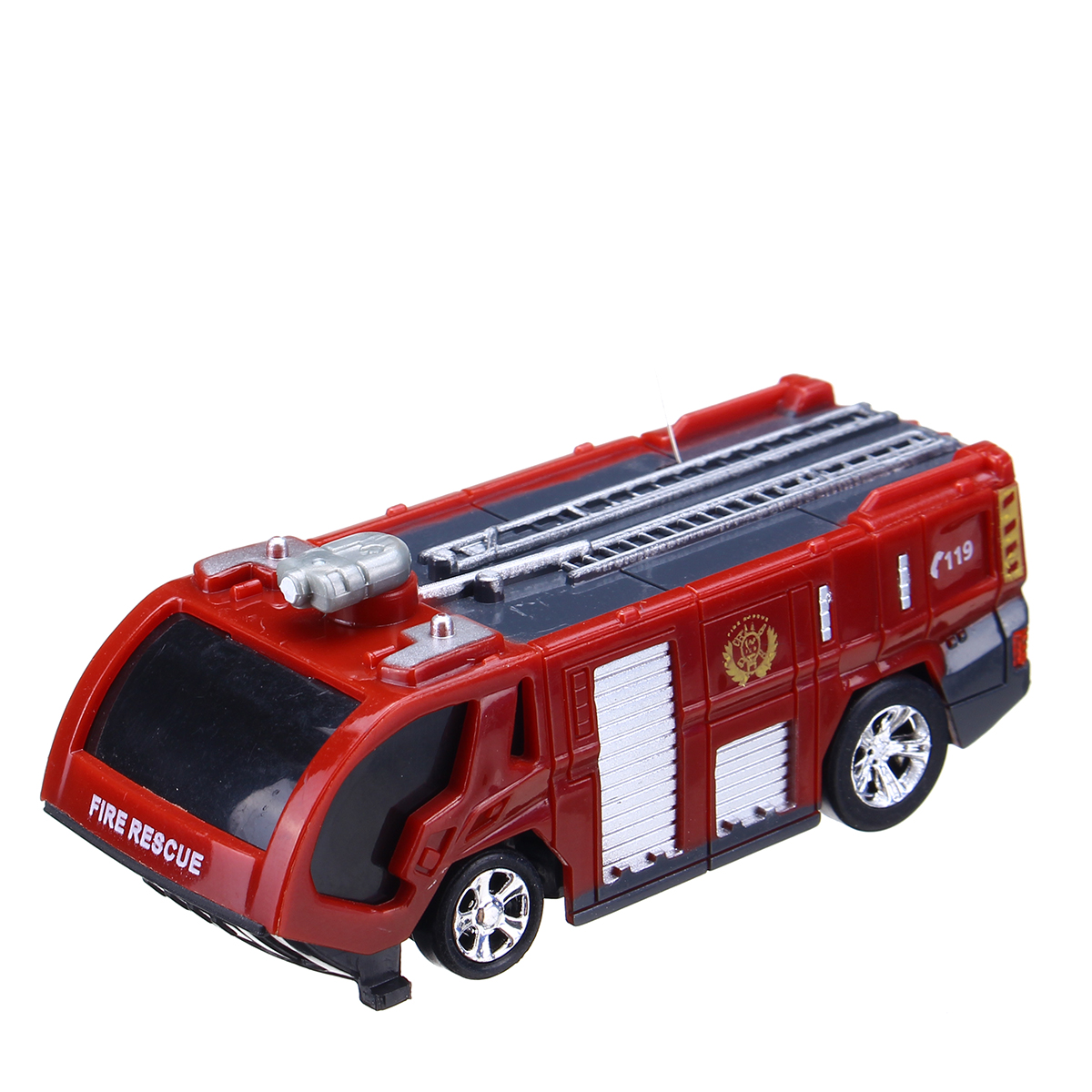 Toddlers Age 2,3,4,5, 6 in 1 Fire Engine Toy with Mini Fire Rescue Emergency Vehicles Fire Truck for Boys Best car carrier truck Play Set w// Station and Rescue Ladder |Toys Gifts for Boys /& Girls
