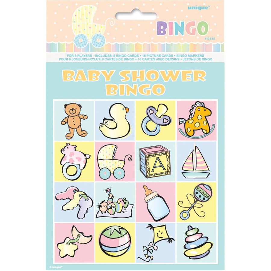 Baby Shower Bingo Game for 8
