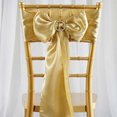 Efavormart 5 PCS SATIN Chair Sashes Tie Bows for Wedding Events Banquet Decor Chair Bow Sash Party Decoration Supplies  6 x106