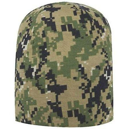 DIGITAL CAMOUFLAGE POLYESTER JERSEY KNIT BEANIE WATCH SKI CAP GREEN CAMO -  Walmart.com 338d30c64c7