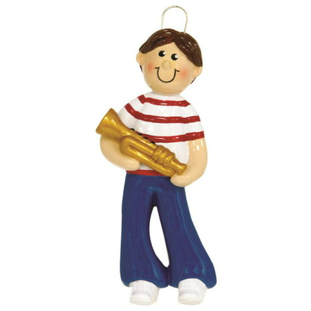 Trumpet Boy Personalized Christmas Tree Ornament DO-IT-YOURSELF ()