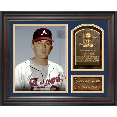 "Phil Niekro Atlanta Braves Fanatics Authentic Framed 15"" x 17"" Baseball Hall of Fame Collage with Facsimile Signature - No Size"