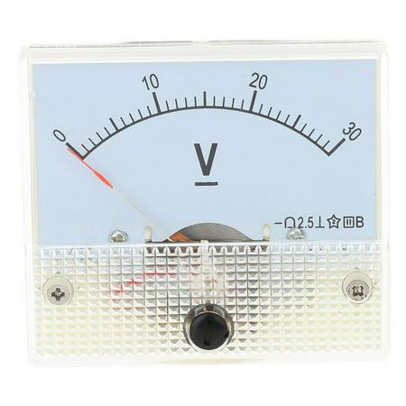 DC0-30V Analog Voltage Panel Meter Tester Voltmeter Gauge (Analog Duplex Panel)