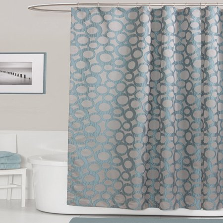 Orbit Blue Shower Curtain