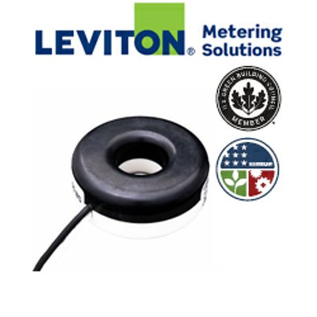 Leviton Cda02 K12 200 0 1A Sub Metering Current Transformer   Black